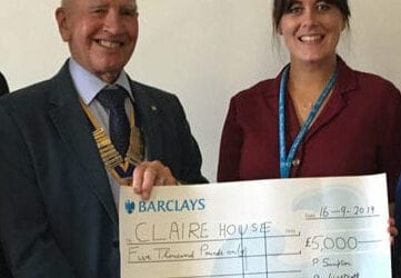 Claire House awarded £5,000 from 2019 Raft Race donations